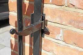 cast iron black gate latch gate