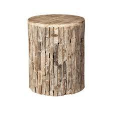 patio sense elyse round wood outdoor garden stool