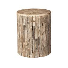 Patio Sense Elyse Round Wood Outdoor Garden Stool-62420 - The Home ...