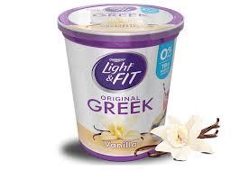 vanilla greek nonfat yogurt naturally artificially flavored