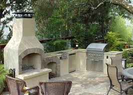 customized 36 contractor outdoor fireplace kit integrated with custom outdoor kitchen