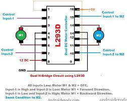 dc motor dual h bridge ic l293d H-Bridge Schematic Circuit Diagram H Bridge Motor Driver #46