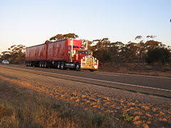 semi trailer truck b double truck on the sturt highway
