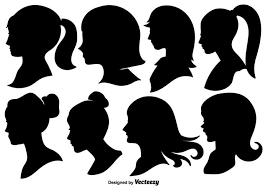 Woman Profile Silhouettes Vector Illustration Download Free