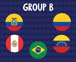 America Latine football 2020 teams.Group B Countries Flags Ecuador Peru  Colombia Venezuela Brazil.America Latine soccer final 2623413 Vector Art at  Vecteezy