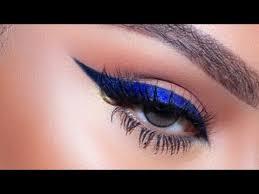 dramatic blue eyeliner makeup