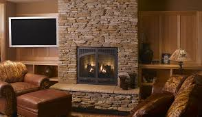 Living Room:Classic Small Living Room Design With Wooden Glass Bookcase And  Brick Stone Fireplace