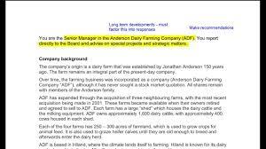 Business Case Analysis CIMA Strategic Case Study Preseen Analysis ADF November 24 12