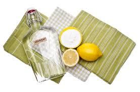all natural spring cleaning solution lemon vinegar and baking soda