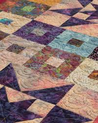 Free quilt pattern for batiks—and Jelly Rolls! - Stitch This! The ... & Detail of Purple Daze quilt by Cheryl Brown Adamdwight.com