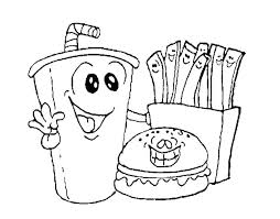 Free Printable Junk Food Coloring Pages Coloring Pages Free