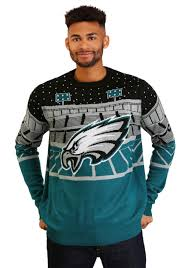 Philadelphia Eagles Sweater With Lights Philadelphia Eagles Mens Light Up Bluetooth Ugly Christmas Sweater
