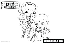 Doc Mcstuffins Coloring Pages Birthday Free Online Chilly And