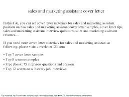 Cover Letter Sample For Marketing Position