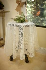 ivory lace round tablecloths for modern dining table decor