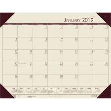 house of doolittle ecotones compact calendar desk pads hod12443