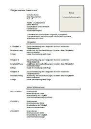 Curriclum Vitae Template German Cv Template Lebenslauf Joblers