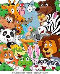 wild animals clipart. Delighful Animals Wild Animal Background  Csp12841908 With Animals Clipart M