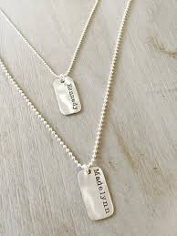 sterling silver custom small dog tag