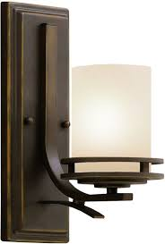 kichler 5076ni brushed nickel hendrik single light 12 tall wall sconce with satin etched glass shade lightingdirect com