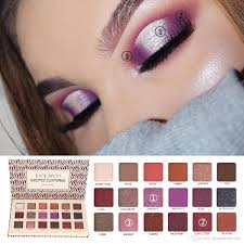 makeup eyeshadow palette 2018 matte high pigment eyeshadow palette bright glitter natural green eyes makeup eye makeup for blue eyes from