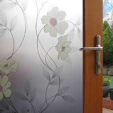 scrub paste self adhesive glass transpa glass door stickers decorative flowers art stained window