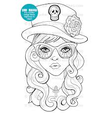 Small Picture Goth Girls Adult Coloring Book PDF printable adult coloring