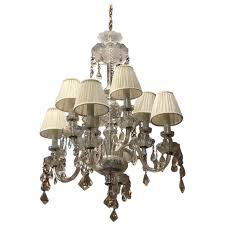 midcentury italian eight bulbs crystal chandelier from 1960s for