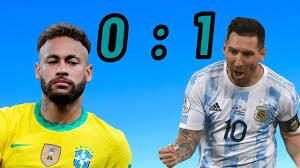 ملخص مباراة الارجنتين والبرازيل اليوم 1-0 - نهائي كوبا امريكا - ملخص مباراة  البرازيل والارجنتين 2021 - YouTube