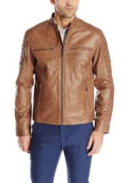 cole haan signature men s washed goat ski moto leather jacket