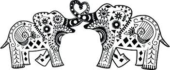 Elephant Coloring Pages Page Print Cute