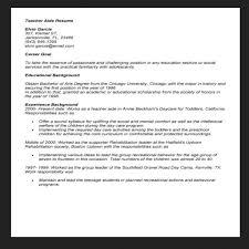 Sample Resume For Teachers Aide Teacher Sample Paraprofessional