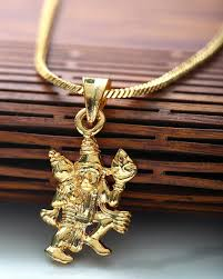 designer mens pendants lord hanuman motif designer gold plated pendant with chain voylla