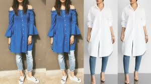 Jeans Dress Designs Latest Kurti With Jeans Designs 2018 Latest Kurti For