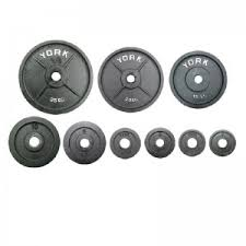 york weights. york 10 kg olympic plate uncalibrated weights