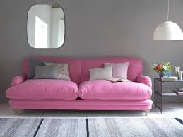 Pudding sofa in our Cotton Candy wool