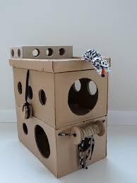 Cardboard House For Cats Inexpensive Cat Playhouse Diy Tunnels Circles Glee Cats