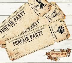 Microsoft Office Ticket Template Amazing Party Invitations Funfair Party Download 48 X 48 Inch Circus Etsy
