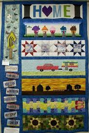 51 best Quilts Row by row license plate quilts images on Pinterest ... & Made by Beverly Splinter, on display at Dakota Quilt Shop Adamdwight.com