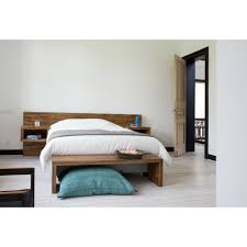 bedroom furniture benches. Benches Bedroom Furniture With Minimalist Ethnicraft Fj Teak Block Bench 100% Solid Wood Materials Design