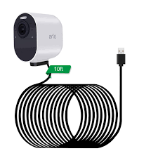 Arlo Camera No Lights Lanmu Power Cable For Arlo Ultra Weatherproof Indoor Magnetic Charging Cord For Arlo Ultra Camera With Wire Clips 10ft 3m