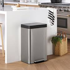 stainless steel kitchen trash can. Kohler Stainless Steel 13 Gal. Step Trash Can Kitchen N