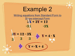 write linear equations in standard form worksheet choice image write standard form when given point and