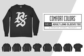 Long Sleeve Tee Design Comfort Colors 6014 Long Sleeve Tee Design Cuts