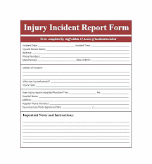 Medical Office Accident Report Form Free Incident Template ...