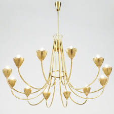 italian mid century modern period brass chandelier with 12 arms there is nothing superfluous