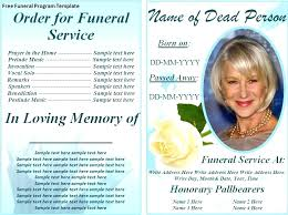 Obituary Program Template Microsoft Word Anekanta Info