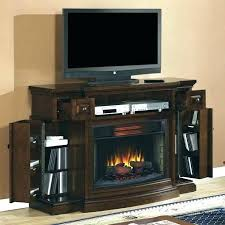 tall black corner entertainment center electric fireplace 5 foot in dark storage media console with mantel
