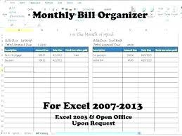 Monthly Bill Template Free Receipt Tracker Template Free Payroll
