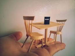 diy miniature dining table and chairs  youtube